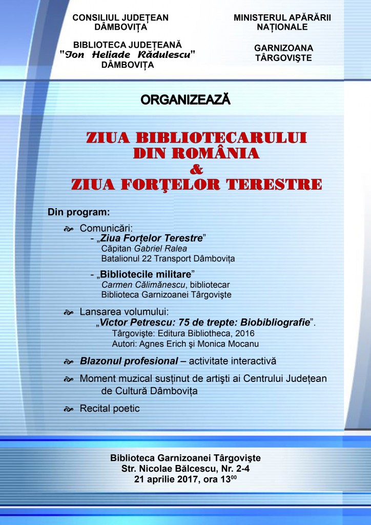 AFIS - Ziua Bibl si Ziua Fortelor Terestre - 21 april 2017